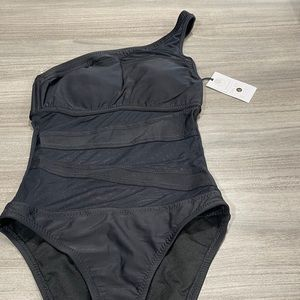 New Shade & Shore Black Off Shoulder Swimsuit XS